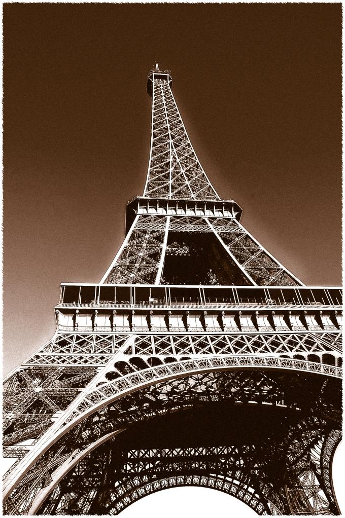 the Eiffel Tower by Sandy Hibbard Wright