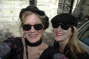 2 sisters in Paris Sandy Hibbard Wright and Judith Hibbard