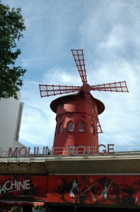 The windmill at Moulin Rouge Paris