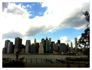 Manhattan Skyline by Sandy Hibbard