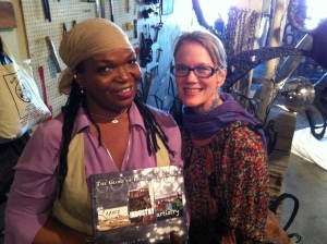Sandy Hibbard of Lyric Marketing and author of The Gowanus River Project Leslie  Boyce