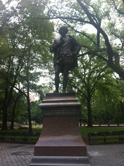 statue in central park new york