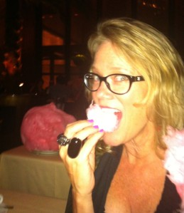 Sandy's Birthday Cotton Candy from The Four Seasons Restaurant in NYC