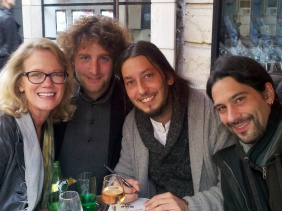 Sandy with Mitch, Alex, and Oliv - the Wild Child