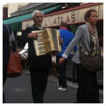 accordion player in the streets of Paris