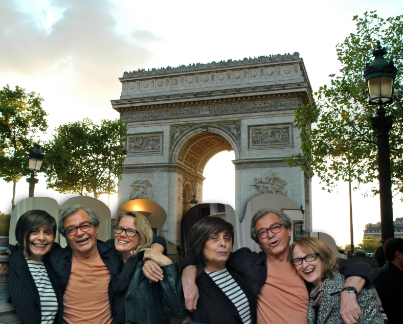 Paris fun with our new friends