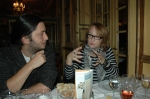 Judith in deep conversation about the music biz with Alex