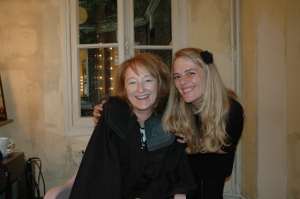 Judith with Sophie at COFF1RST in Paris after getting her hair done