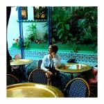 Judith in the atrium patio at the Grand Mosquee de Paris