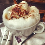 Nothing like a cappuccino in Paris! www.sistersinparis.wordpress.com