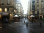 A quiet early morning Paris street
