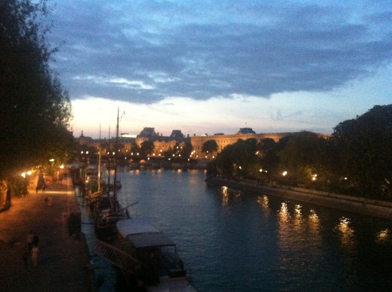 The River Seine at dusk