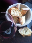 Wine and bread - all you really need in Paris