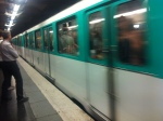 Riding the Metro in Paris