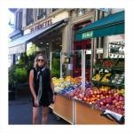 Sandy on her walking adventure along Blvd St. Germain