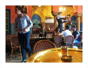 The bustling tea room of the Grand Mosque de Paris