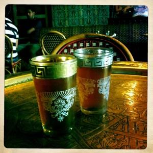 The famous mint tea at the Grand Mosquee de Paris