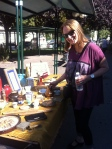 Judy shopping at the Porte de Vanves flea market Paris