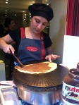French crepes in Montmartre Paris