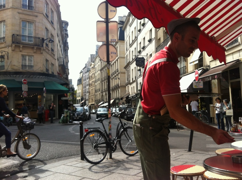 One of our local cafes on Rue de Buci in the morning