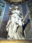 a statue in the oldest church in Paris St-Germain-des-Pres