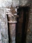 ancient columns in the oldest church in Paris St-Germain-des-Pres