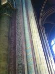 details of the columns inside the oldest church in Paris - St-Germain-des-Pres