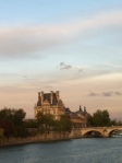 The Louvre from the River Seine at sunset