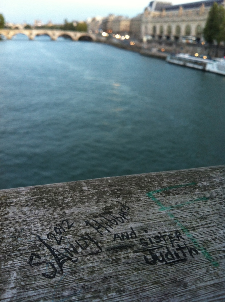 sandy and judith tagged the Pont de l'Archevêché bridge in Paris