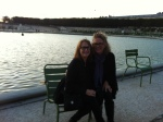 Sandy and Judy at the pond in the Jardin des Tuileries in Paris