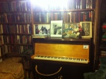 The magical piano in the Shakespeare and Company Book Store in Paris