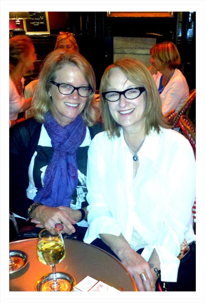 Judith's last night in Paris with sister Sandy
