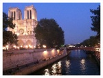 Notre Dame Cathedral in Paris at sunset