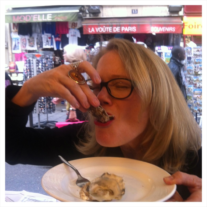 Sandy eating Oysters!....?