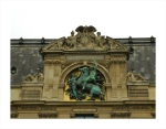 Nappoleononic Detail on the facade of the Louvre in Paris