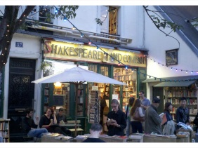Shakespeare and Company Book Store in Paris Circa 2012