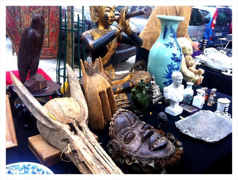 Porte des Vanves Flea Market on a Saturday morning
