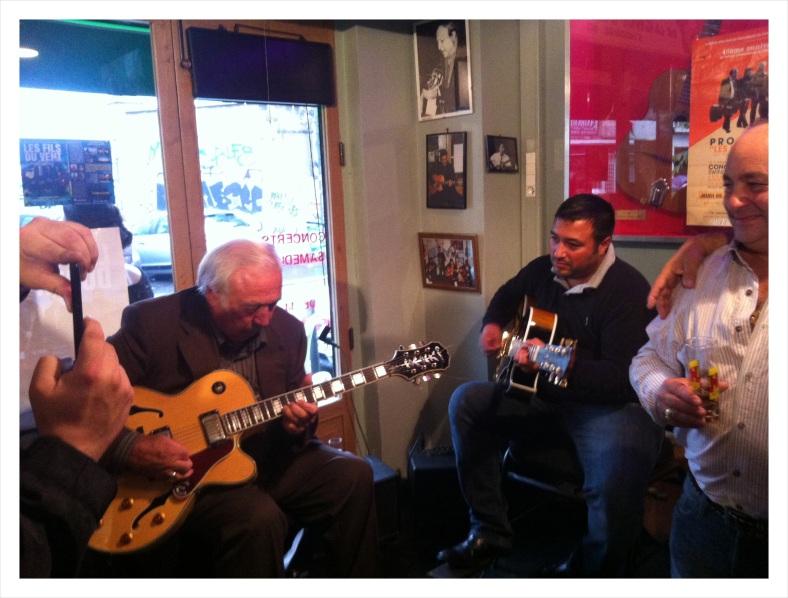 Musicians playing at Espace Django Reinhardt in Paris