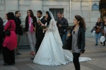 Another wedding on the streets of Paris, this one in front of the Arc de Triomphe