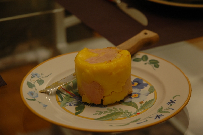 Foie Gras - A delicious start to another great dinner at Philippe and Dominique's home in Paris