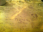 Dining at La Closerie des Lilas on a matt of famous signatures