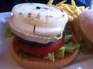 are you kidding me? a goat cheese hamburger - Fabulous!