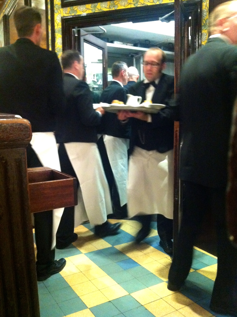 The hustle and bustle at the famous Brasserie Lipp in Paris in Germain St de Pres