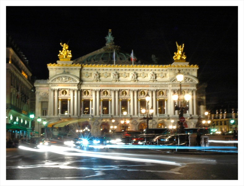 The Paris Opera at night