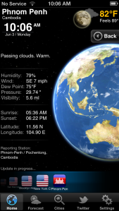 weather in Cambodia on June 2, 2013