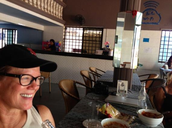 Sandy Hibbard at the SSF Karuna Hostel in Cambodia