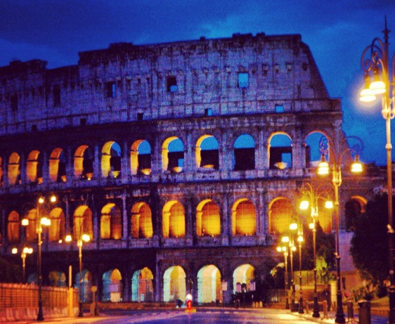 roman coliseum by sandy hibbard